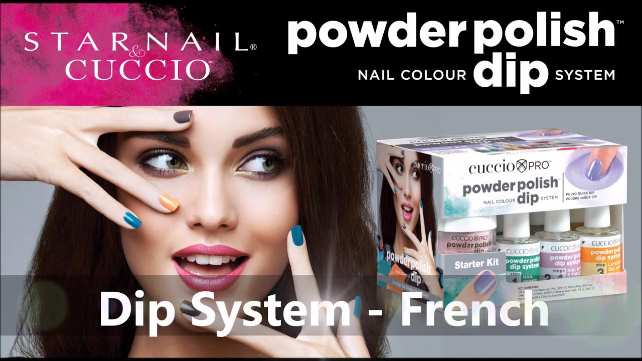 Dip System French Star Nail Cuccio Youtube