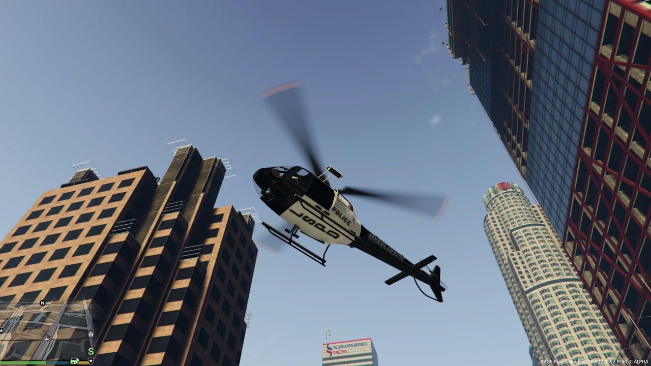 GTA 5 - Helicoper Patrol - LSPDFR 0.2 Police Mod #4