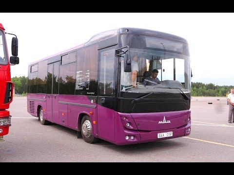 Тест-драйв автобусов МАЗ с двигателями Mercedes-Benz