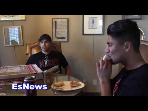 Mikey Garcia Pre Fight Meal & Dana White Sends Mikey A Message EsNews Boxing
