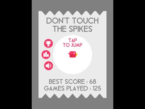 Don t touch the spikes android ios gameplay youtube