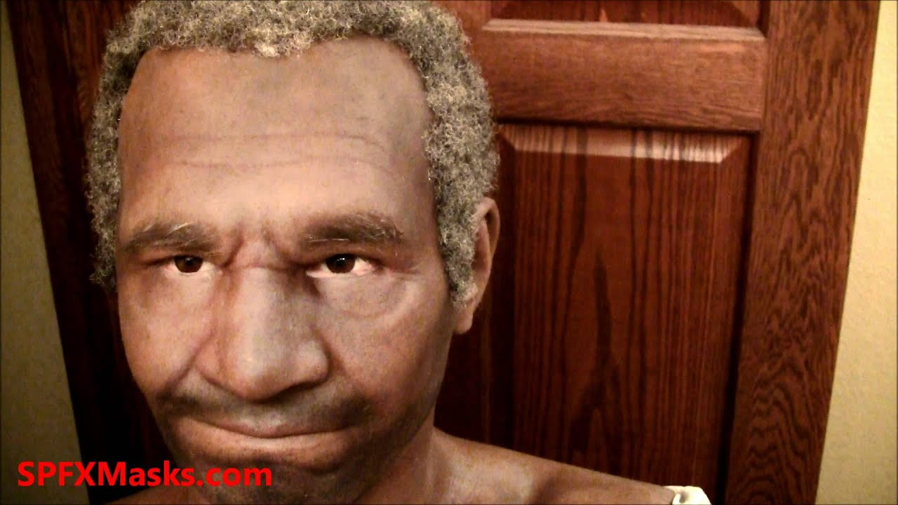 Black Senior Silicone Mask With Full Hair PLEASE SHARE THESE VIDEOS TO OUR PEOPLE. WOW