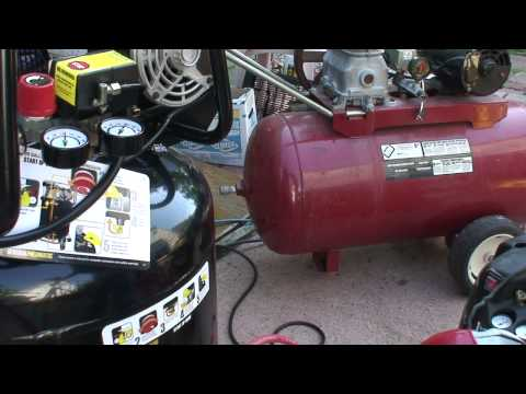 Harbor Freight 29 Gal 2 HP compressor CFM compared