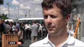 Crown Prince Frederik visits Higashi-Matsushima in Japan -3 (2011)