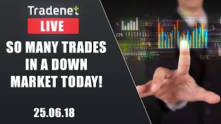 Live Day Trading room streaming - 25/6/18