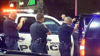 Houston Police arrested two suspects after wild chase in stolen BMW