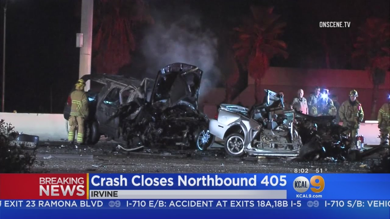 Two Killed In Fiery I-405 Wrong-Way Wreck In Irvine