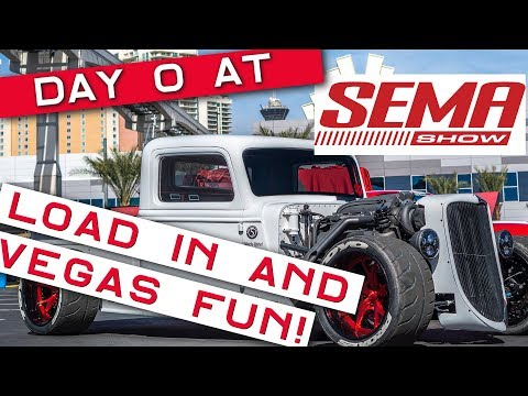 Factory Five Racing '35 Truck – Day 0 at SEMA 2018 – Load In and Vegas Fun!