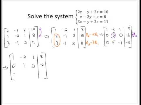 Solve 3x3 System With Gaussian Elimination Youtube