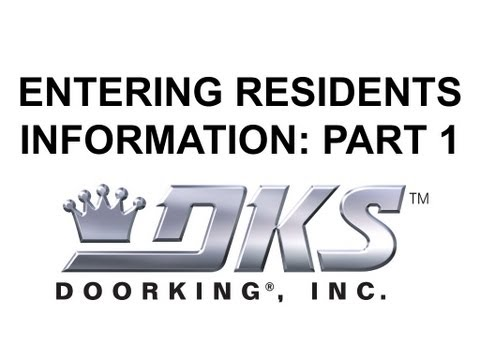 Entering Residents Into the DoorKing Software Part 1