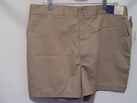 towncraft-men's-khaki-shorts-dress-casual-work-size-42-new-with-tags