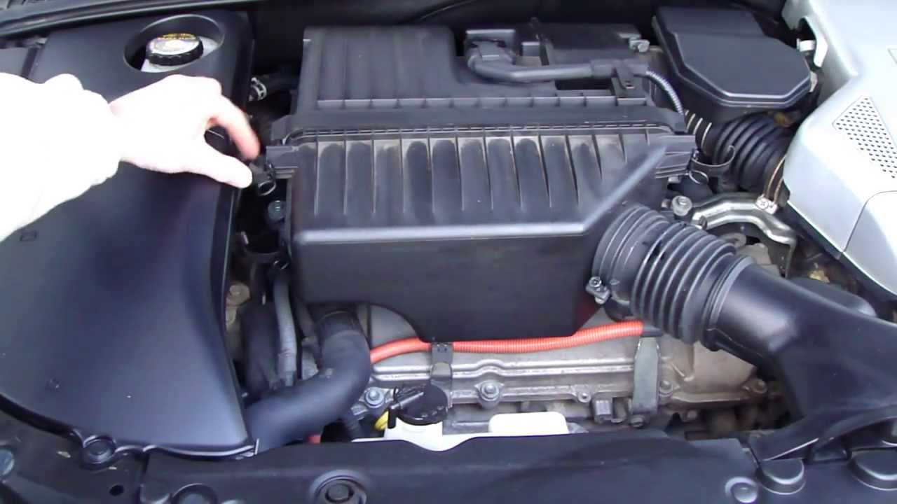 How to replace air filter Lexus RX400 Hybrid. Years 2003 to 2009 ...
