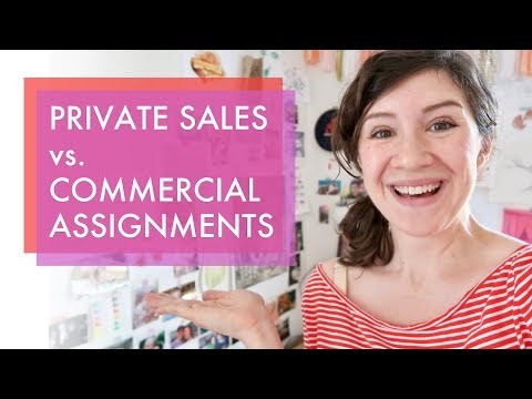 Private Art Sales vs. Commercial Art Commissions