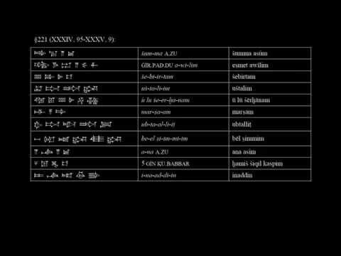 Codex Hammurapi - Revised Pronunciation