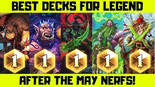 Top 5 Decks For Legend After The May Nerfs in Hearthstone