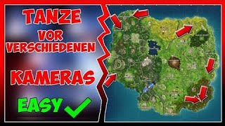 Dance in front of different Film Cameras ALL LOCATIONS! Fortnite Week 2 Challenges!