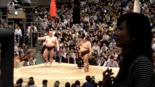 2015/03/18 大相撲 大阪場所 11日目 稀勢の里(東大関)-豊ノ島(東前...