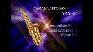 Yamaha YAS-480 Intermediate Eb Alto Saxophone, Hand-Engraved Bell Design, Gold-Lacquer Finish