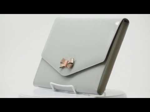 0c067f98a Ted Baker LUANNE Bow Envelope Pouch - Med Grey - YouTube