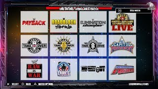 WWE 2K19 ALL 50+ ARENAS- Wrestlemania 34, Empty Arena & More   Concept/Notion   PS4/XB1