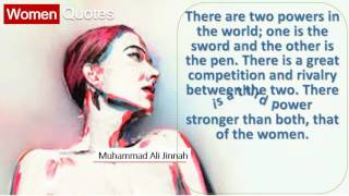 Inspiring Women Quotes By Muhammad Ali Jinnah - There are two powers in the