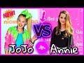 JoJo Siwa VS Annie Leblanc Musical.ly Battle | Famous Gymnast Girls Musically