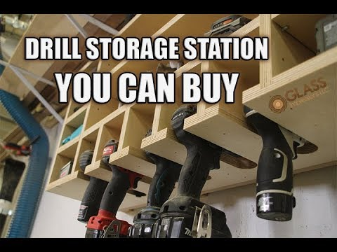 Organize your garage or shop! Drill Storage Charging Station