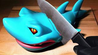 Crazy Stop Motion&ASMR / I made a kitchen knife with shark