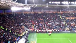 Man United Away Fans After Full Time Whistle Vs Hull City