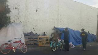 homelessness la visiting skid row with ted hayes