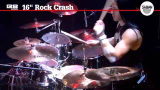 16 b8 pro rock crash sabian crash cymbal