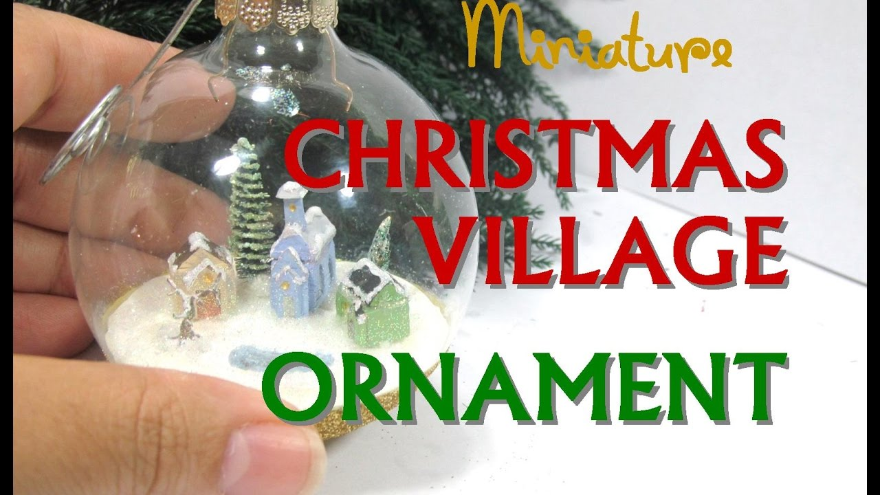Polymer Clay Christmas Village.Polymer Clay Christmas Village In A Glass Ornament Collaboration