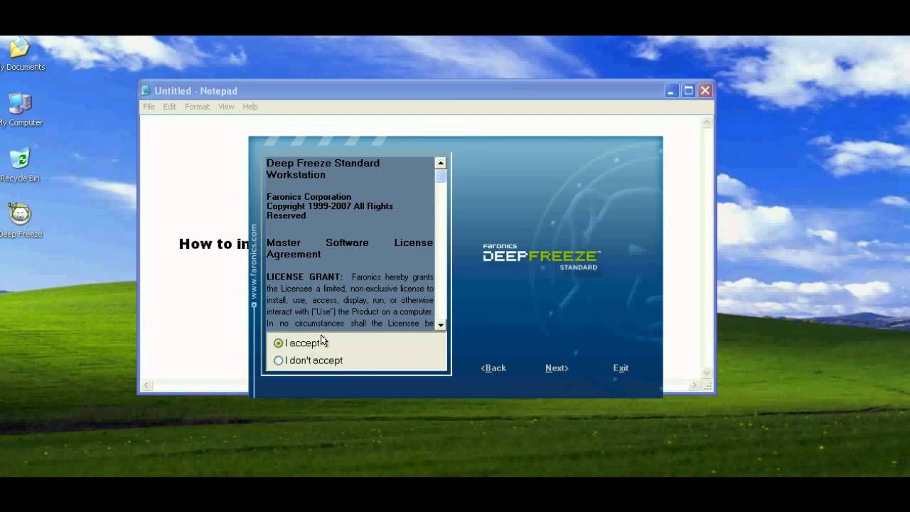 deep freeze full version free download for windows xp
