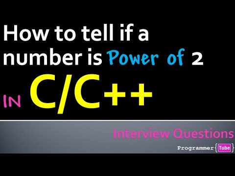 How to check if a number is a power of 2 or not using C/C++