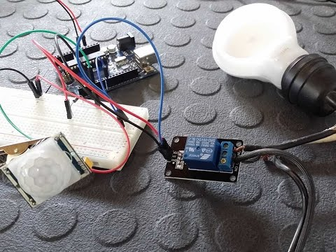 Connect a Relay and PIR Motion Sensor to an Arduino - Tutorial