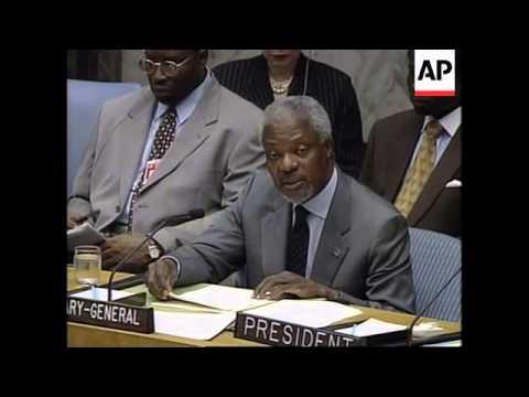 UN: UN CHIEF KOFI ANNAN: AFRICA