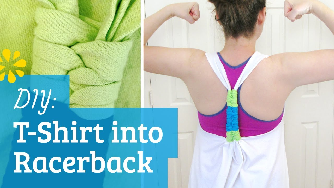 Diy T Shirt Into Racerback Tank Top Sea Lemon Youtube