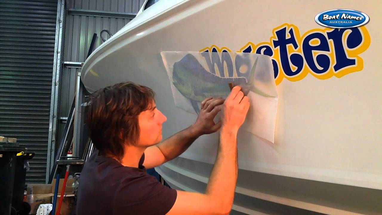 How To Apply Printed Boat Graphics Easily Like A Pro YouTube - Boat decals australia   easy removal