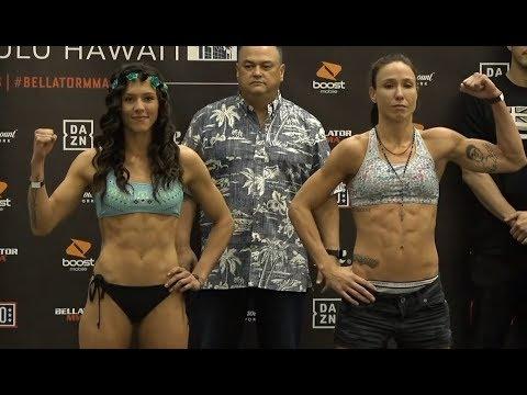 076447d4fa Alejandra Lara vs. Juliana Velasquez - Weigh-in Face-Off - (Bellator ...
