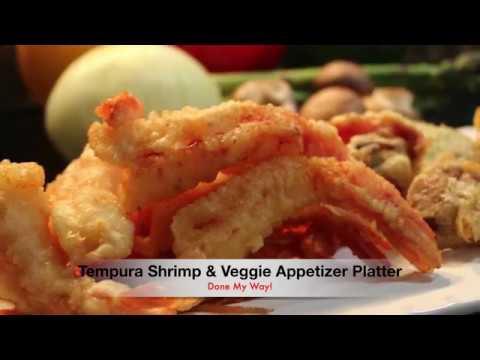 Tempura Shrimp & Veggies Platter