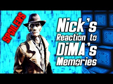 Fallout 4 Far Harbor - Nick's Reaction to DiMA's Memories of Him *SPOILERS*