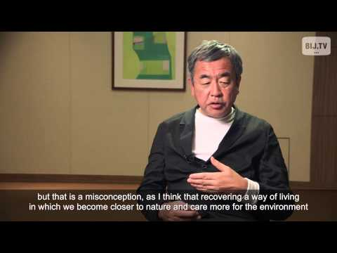 Kengo Kuma: Review the old to build new / 隈研吾氏:古きを温ねて新しきを建てる