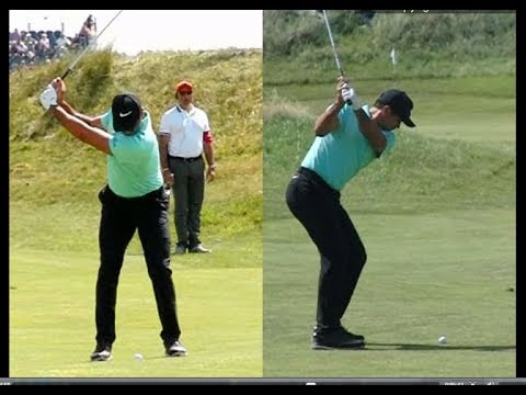 Jason Day Golf Swing Short Iron Face On Down The Line July 2017