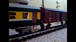 Pakistan Railways( I Built This Model Train From Wood It Is 8 Feet Long)