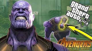 THANOS AVENGERS INFINITY WAR SUPER POWER MOD (GTA 5 PC Mods Gameplay)