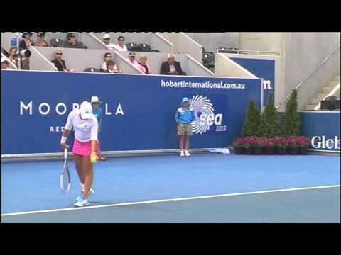 Ashleigh Barty vs Bethanie Mattek-Sands - Moorilla Hobart International 2012.mp4
