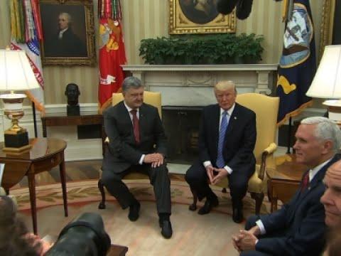 Trump Meets with Ukrainian President