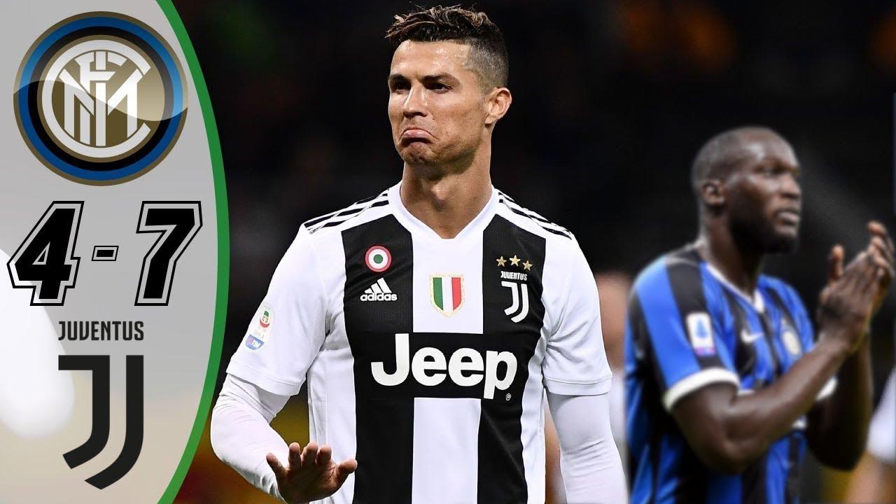 Inter Milan vs Juventus 4-7   Highlights & Goals 2019
