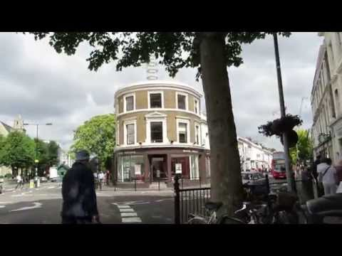 Walk from Notting Hill Gate to Portobello Road in London 2