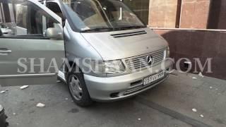 Երևանում «Սիլաչի» հյուրանոցի արտաքին պատի երեսպատման սալիկները պոկվել և ընկել են Mercedes ի վրա